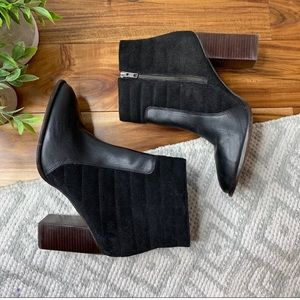 MADEWELL Lindsey Quilted Suede Leather Ankle Boots